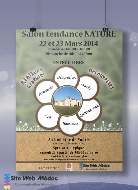 Affiche Salon Tendance Nature