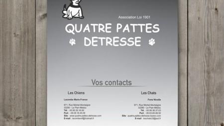 Calendrier Quatre Pattes Détresse 2013