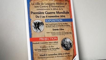 Affiche Mairie Lesparre : Commémorations 11 novembre 2014 - 10.2014