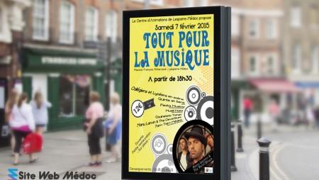 Panneau de Ville Mairie Lesparre : CALM 01.2015