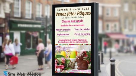 Panneau de Ville Mairie Lesparre : Pâques 03.2015