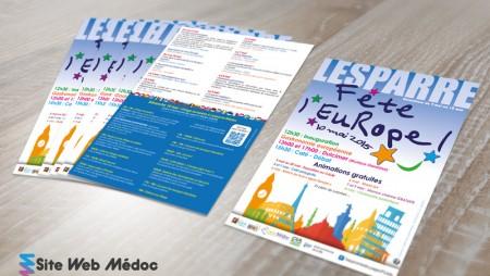 Flyer Mairie Lesparre : Fête de l'Europe 04.2015